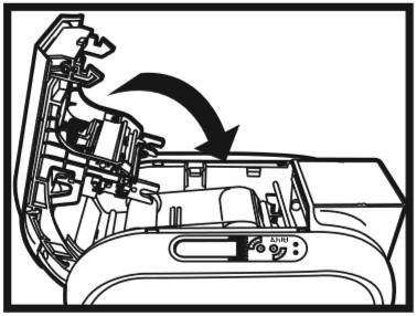 نصب ریبون روی دستگاه کارت پرینتر HITI CS200