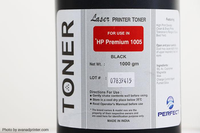 تونر شارژ اچ پی HP 1005 پرفکت 1000 گرمی