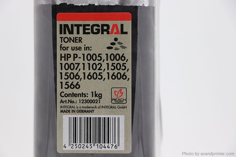 تونر شارژ اچ پی 1005 اینتگرال 1 کیلویی Integral 1Kg HP 1005 Toner Powder