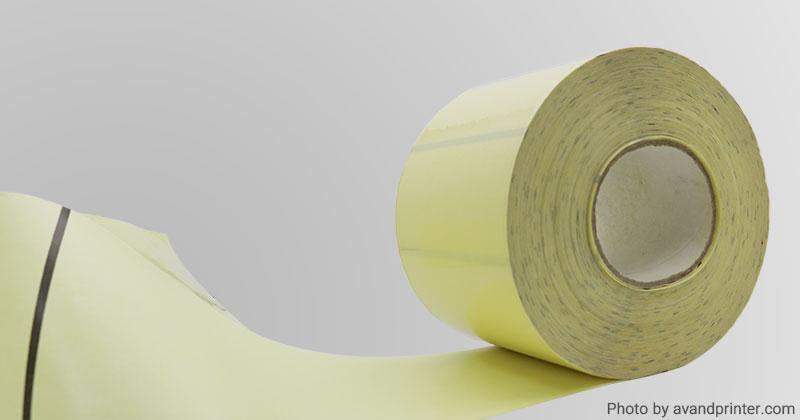 لیبل (برچسب) بی رنگ بوبین بزرگ Large Bobbin 300×100 Transparent Label