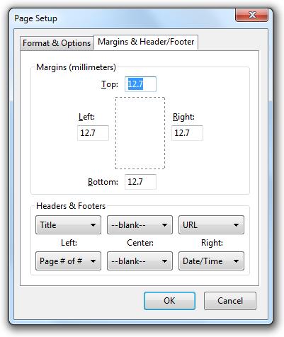 چگونه با مرورگر Firefox پرینت بگیریم؟