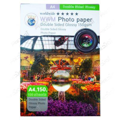 کاغذ عکس A4 دورو و براق 150 گرمی
