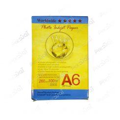 کاغذ عکس A6 با براق 260 گرمی - 100 برگی