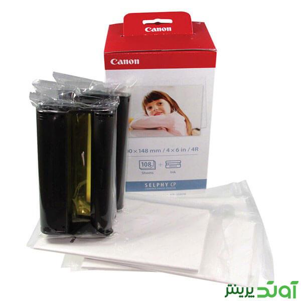 ست جوهر و کاغذ عکس کانن Canon KP-108IN