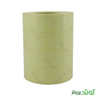 لیبل (برچسب) کاغذی چهار ردیفه Paper Label 12x25