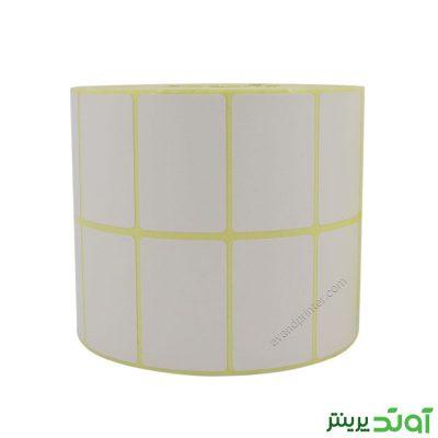 لیبل (برچسب) کاغذی دو ردیفه Paper Label 30x45