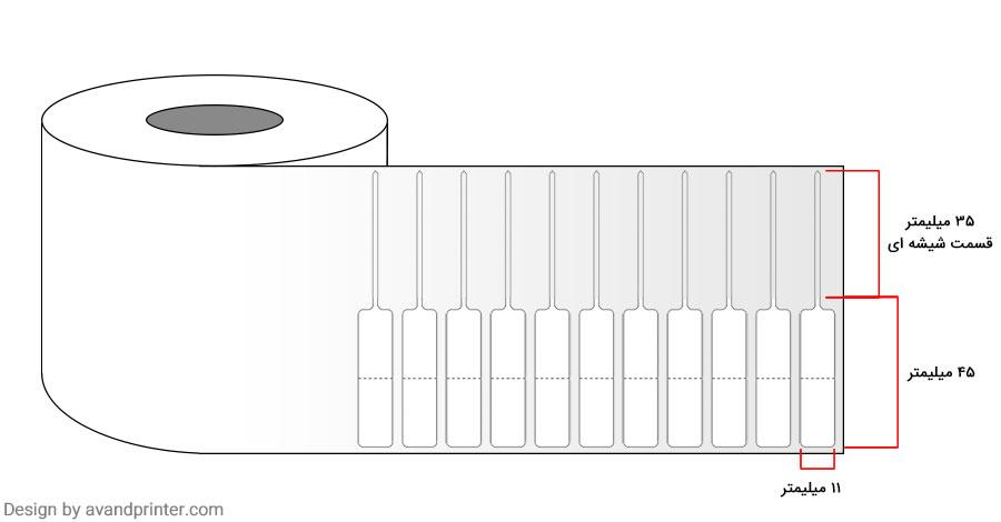 لیبل جواهر دم شیشه ای Jewelry Tag