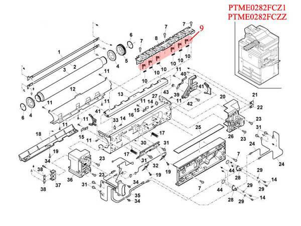 ناخنک هاترول AR-235/350/550 شارپ طرح 5 تایی (کد: PTME0282FCZZ)