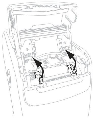نحوه تمیز کردن مسیر چاپ دستگاه مچ بند بیمارستانی Zebra HC100