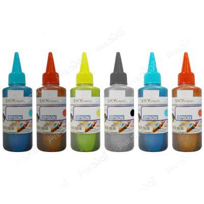 جوهر پرینتر اپسون 100 میلی لیتری 6 رنگ Sky Colors - 100ml Epson 6 Color Cartridge Ink