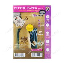 کاغذ چاپ تاتو سایز A6 تعداد 12 برگ Mirage Tattoo Paper