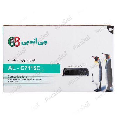 کارتریجرنگ مشکی اچ پی جی اند بی HP 15ABlack Laserjet Toner Cartridge G&B
