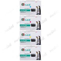 ست کارتریج اچ پی چهار رنگ جی اند بی HP 504A CMYK Cartridge G&B