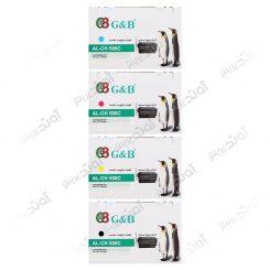 ست کارتریج اچ پی چهار رنگ جی اند بی HP 508A CMYK Cartridge G&B