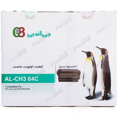 کارتریجرنگ مشکی اچ پی جی اند بی HP 64ABlack Laserjet Toner Cartridge G&B