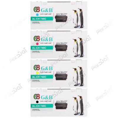 ست کارتریج اچ پی چهار رنگ جی اند بی HP 307A CMYK Cartridge G&B