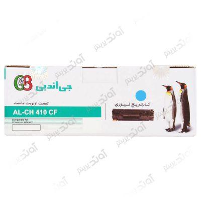 کارتریج اچ پی رنگ آبی جی اند بی HP 410ACyan Laserjet Toner Cartridge G&B