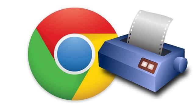تنظیمات پرینتر در مرورگر Chrome