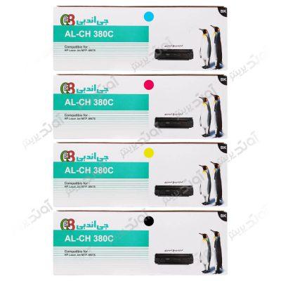 ست کارتریج اچ پی چهار رنگ جی اند بی HP 312A CMYK Cartridge G&B