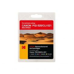ست کارتریج کداک جوهرافشان کانن Kodak Canon PGI520-CLI521 CMYK Ink Cartridge