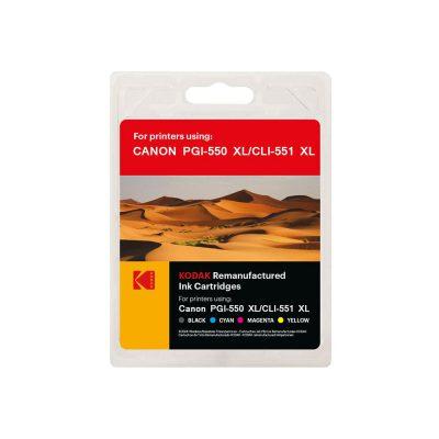 ست کارتریج کداک جوهرافشان کانن Kodak Canon C550XL-C551XL CMYK Ink Cartridge
