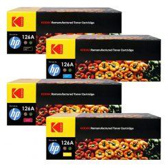 ست کارتریج تونر کداک اچ پی Kodak126A CMYK Toner Cartridge