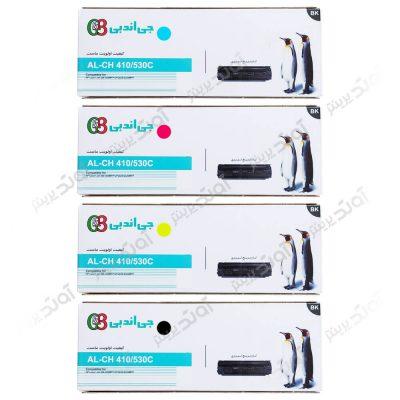ست کارتریج تونر اچ پی جی اند بی HP 304A-305A CMYK Cartridge G&B