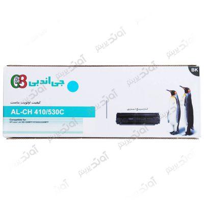 کارتریج تونر اچ پی رنگی آبی جی اند بی HP 304A-305A Cyan G&B