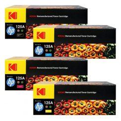 ست کارتریج تونر کداک چهار رنگ اچ پی Kodak125A CMYK Toner Cartridge
