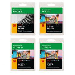 ست کارتریج کداک جوهرافشان اچ پی چهار رنگ Kodak HP 933XL-932XL CMYK Ink Cartridge