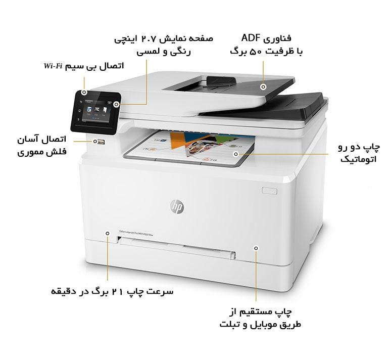 پرینتر چندکاره لیزری رنگی اچ پی HP Color LaserJet Pro MFP M281fdn