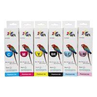 ست 6 رنگ جوهر پرینتر سابلیمیشن اپسون WOX Sublimation ink 100ml