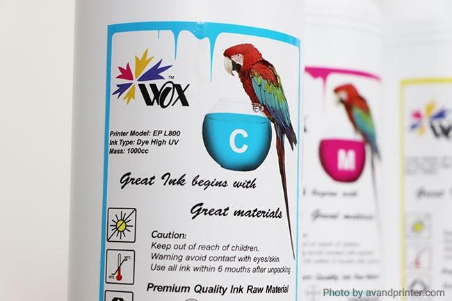 جوهر پرینتر اپسون 1 لیتری Epson WOX 1000ml 6 Color Cartridge Ink