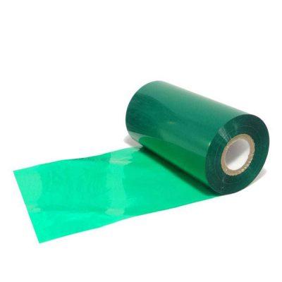 ریبون وکس/رزین رنگ سبز Green Wax/Resin Ribbon 110x30