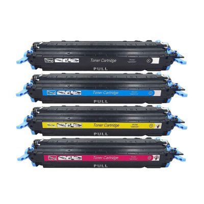 ست کارتریج تونر اچ پی چهار رنگ جی اند بی HP 124A G&B