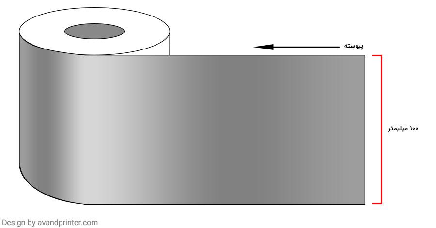 لیبل (برچسب) متال پیوسته عرض 100 میلیمتر
