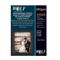 کاغذ عکس فوق براق WOLF RC-10X15