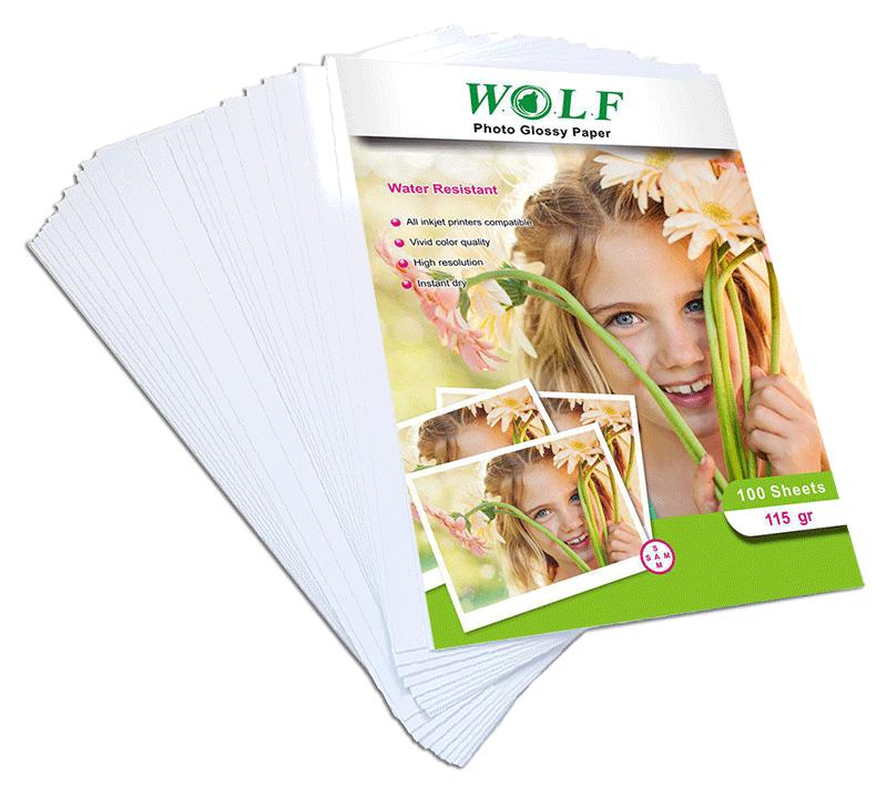 کاغذ عکس A3 براق WOLF