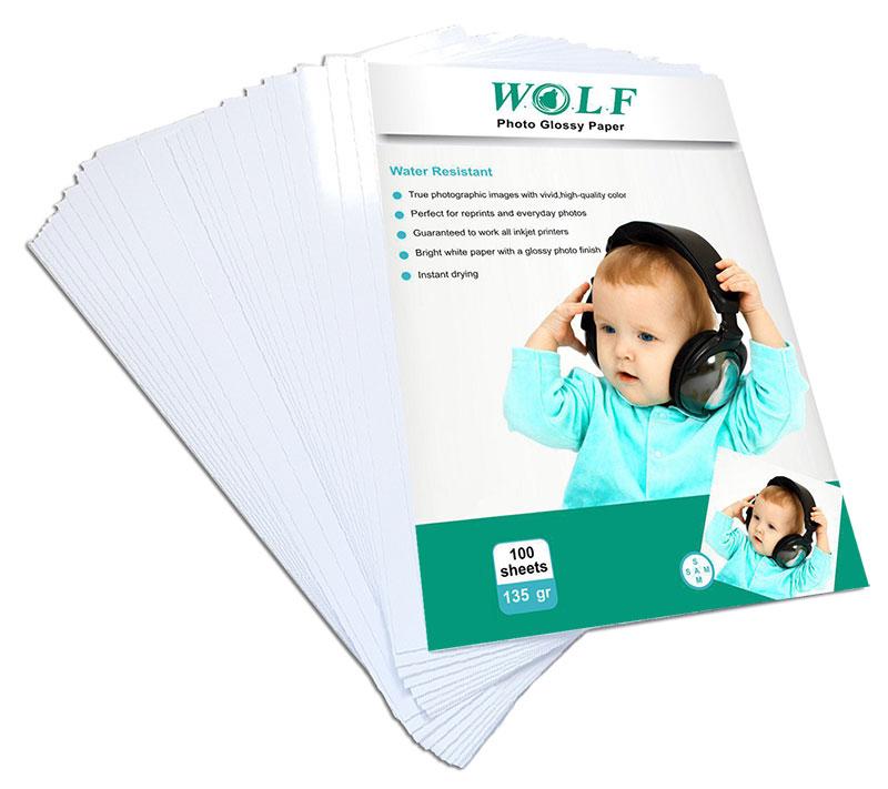 کاغذ عکس A4 براق WOLF