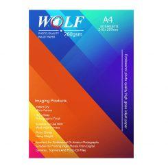 کاغذ عکس A4 براق 260 گرمی wolf
