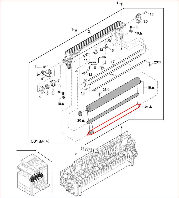 اسفنجی فیوزینگ Sharp MX452