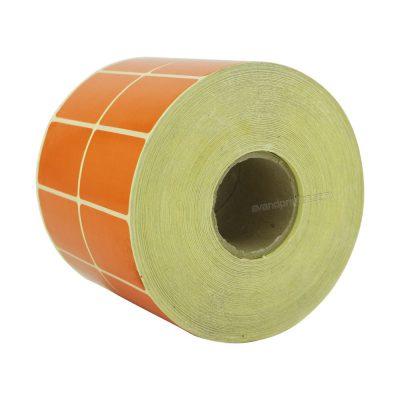 لیبل (برچسب) پی وی سی دو ردیفه نارنجی PVC Label 30×45