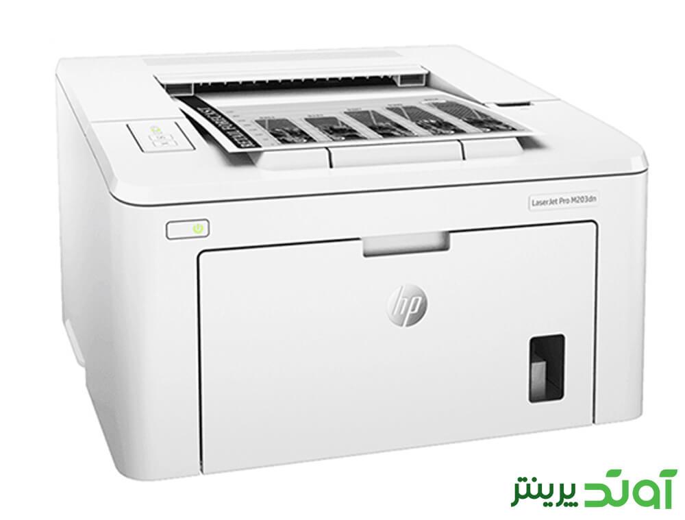 در جعبه پرینتر HP LaserJet Pro M203dn چند عدد تجهیزات اضافی قرار داده است
