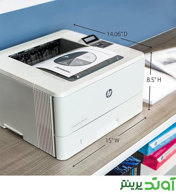 طراحی نرم افزاری M402dw به گونه ای می باشد که ویژگی های Apple AirPrint، HP ePrint، چاپ مستقیم بی سیم، اتصال از طریق یو اس بی، اتصال از طریق شبکه اترنت، Google Cloud Print و موپریا در آن پشتیبانی می شود