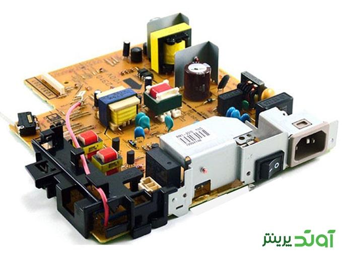 برد پاور چاپگر های HP 1010، HP 1012 و HP 1015 را دارد.