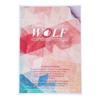 کاغذ گلاسه A4 چسب دار 135 گرمی 50 برگی Wolf