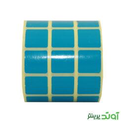 لیبل کاغذی رنگی سه ردیفه 20x20 - آوند پرینتر - لیبل