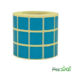 لیبل کاغذی رنگی سه ردیفه 20x20 - قیمت برچسب رنگی