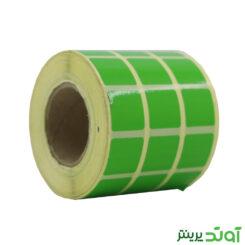 لیبل کاغذی رنگی سه ردیفه 20x20 - لیبل کاغذی رنگی