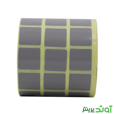 لیبل کاغذی رنگی سه ردیفه 20x20 - لیبل کاغذی